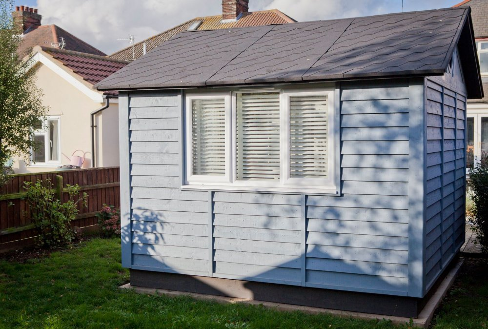 Pure White with matching tapes - garden office