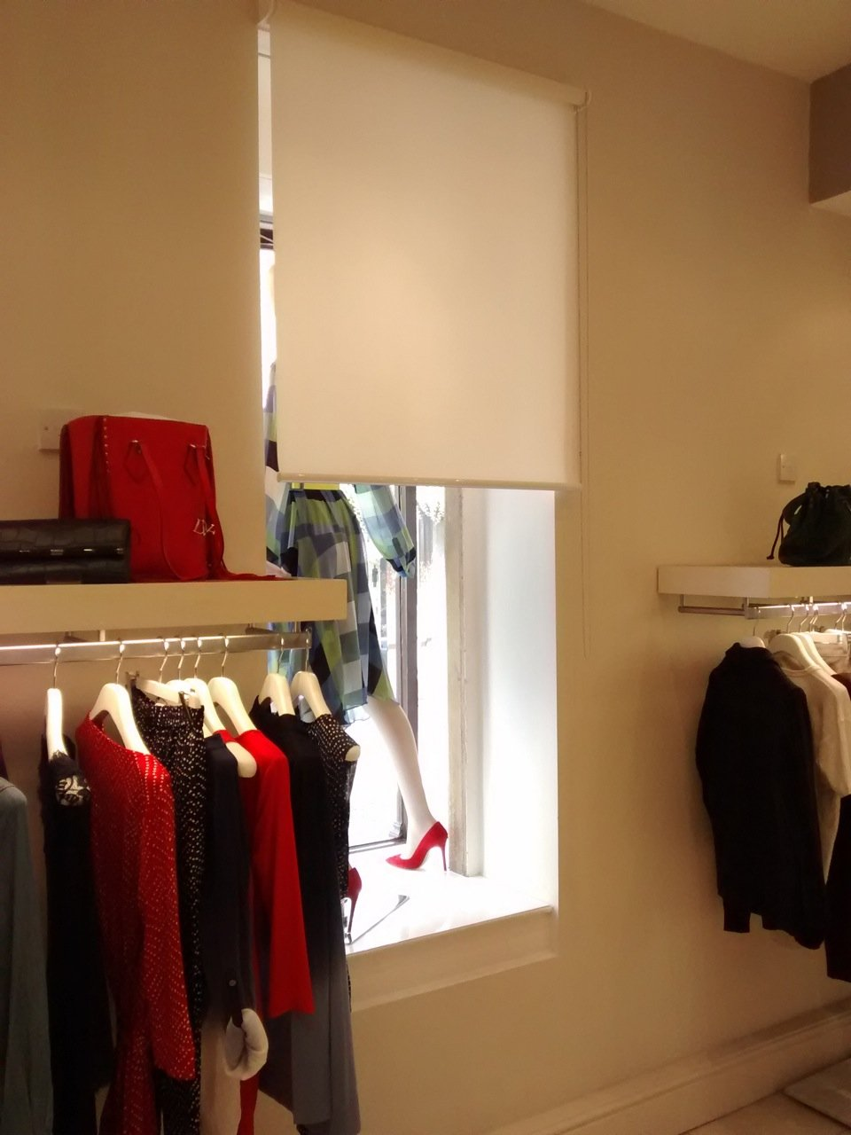 Basics roller blind for fashion retailer Matches Fashion